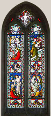 St George's Church Kings Stanley, Stained Glass Windows mostly by Hardman